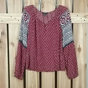 Lucky Brand Live in Love Boho Blouse